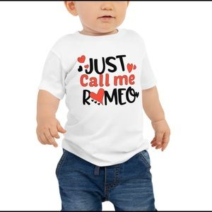 Just call me Romeo kids t shirt